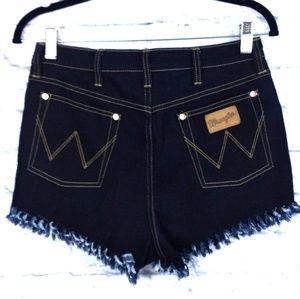 Wrangler Jean Shorts High Waist Dark Rinse